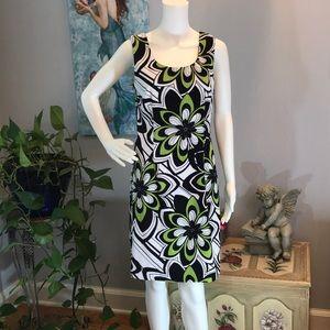 Dress Barn Retro Vibe Print Sheath Dress 10